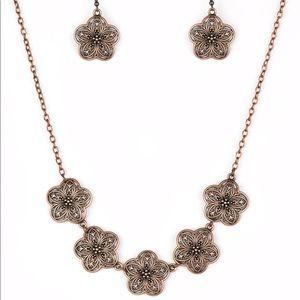 Garden Groove copper necklace